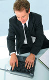 Successful Senior Businessman Working Royalty Free Stock Photos