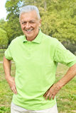 Successful senior man. Portrait of successful senior man outdoors royalty free stock image