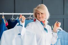Successful senior woman fashion stylist business royalty free stock photos