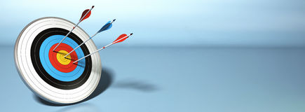 Successful shot, bulls eye Stock Images