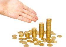 Successful sign to the top of money. Royalty Free Stock Photos