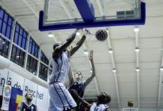 Successful slam dunk stock photography