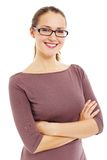 Successful smiling business woman in glasses Royalty Free Stock Photo