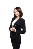 Successful smiling business woman isolated over white Royalty Free Stock Images