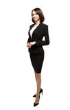 Successful smiling business woman isolated over white Royalty Free Stock Photography