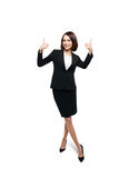 Successful smiling business woman isolated over white Royalty Free Stock Photos
