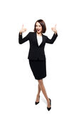 Successful smiling business woman isolated over white Stock Image
