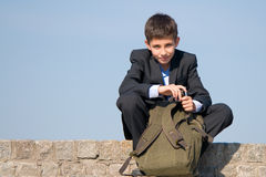 Successful smiling school student Royalty Free Stock Photo