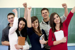 Successful smiling students Royalty Free Stock Photography