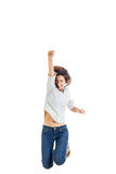 Successful smiling teenage girl or woman happy for her success Stock Images