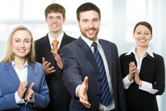 Successful smiling young business people royalty free stock photo