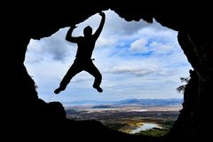 Outdoor sports, climbing and adventure Royalty Free Stock Image