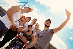 Successful Sports Team On The Beach Stock Images
