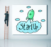 Successful start up concept royalty free stock photography