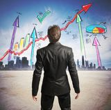 Successful statistics Stock Photography