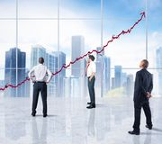 Successful statistics Stock Images