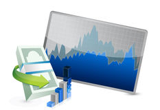 Successful stock exchange graph Royalty Free Stock Image