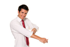 Successful, Strong And Powerful Tackle. Shirt Stock Photo