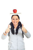 Successful student female Royalty Free Stock Images