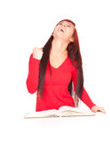 Successful student girl with notebook Royalty Free Stock Photos