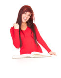 Successful student girl with notebook Stock Image