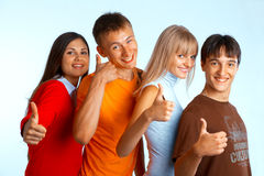 Successful students Royalty Free Stock Photo