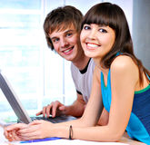 Successful students Stock Images