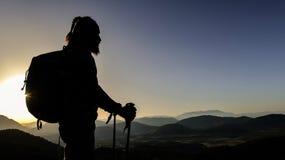 Successful summit climb Royalty Free Stock Image