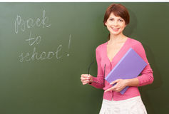 Successful teacher Royalty Free Stock Image