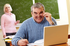 Successful teacher Royalty Free Stock Images