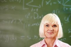 Successful teacher Stock Photo