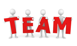 Successful Team. 3D people working as a team. Great concept depicting teamwork and cooperation Stock Images