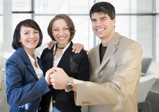 Successful team 2. Young and successful businessteam in office stock photo