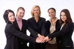 Successful team. Businesspeople in a strong company Stock Image