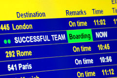 Successful Team Boarding Stock Images