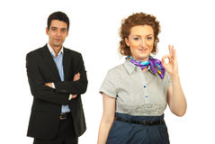 Successful team of business people Stock Image