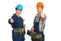 Successful team of constructor workers Royalty Free Stock Photography