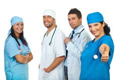 Successful team of doctors Royalty Free Stock Photo