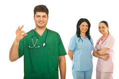 Successful team of doctors Stock Image
