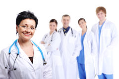 Successful team of doctors Royalty Free Stock Photography