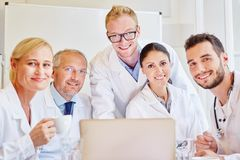 Successful team of doctors Royalty Free Stock Image