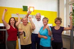 Successful team in gym Royalty Free Stock Photo