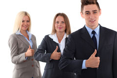 Successful team leader. Business concept Stock Images