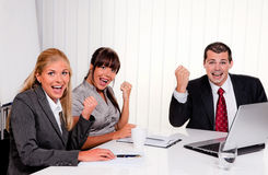 A successful team at a meeting Stock Photos