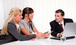 A successful team at a meeting in the office Royalty Free Stock Photography