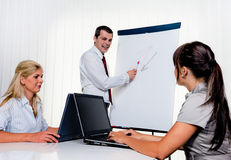 Successful team at a meeting in the office Royalty Free Stock Image