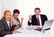 Successful team at a meeting in the office Royalty Free Stock Photos