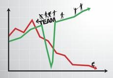 Successful team royalty free illustration