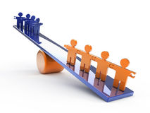 Successful team on scales Royalty Free Stock Images