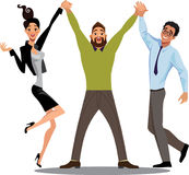 Successful team work, business staff characters Stock Image